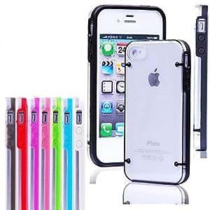 JOE Multicolor Transparent Case for iPhone 4/4S (Assorted Colors) , Rose
