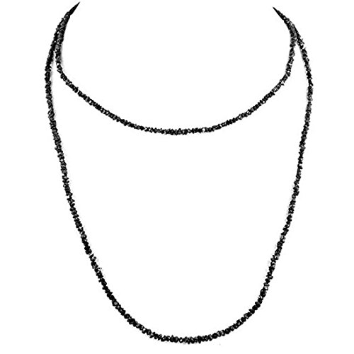 Barishh 36 inches Certified Long Rough Diamond Necklace 120 Cts. With 18kt Gold Clasp AAA by Barishh