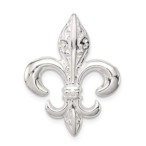 Bonyak Jewelry Sterling Silver Fleur De Lis Slide