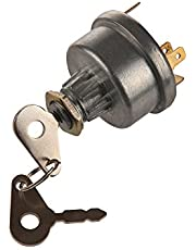 MIDIYA 3107556R1, K203992 Ignition Switch With 3 Position 6 Connection Terminals 2 Keys for Lucas , David Brown ,Backhoe Loader,Massey Ferguson John Deere , Tractor ,Trailer , Agriculture,Plant Applications