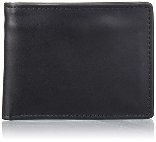 - Dopp Men's Regatta Leather Convertible Billfold Wallet, black, One Size