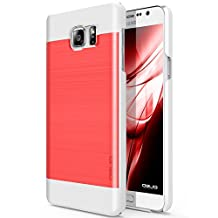 Galaxy Note 5 Case, OBLIQ [Slim Meta][Scarlet Red/White] - Thin Slim Fit Bumper Metallic Polycarbonate Finish All Around Protection Hard Case for Note 5