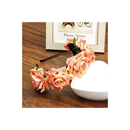 Halloween Festival Hair Bands Flower Tiaras Romantic Bridal Headwear Bohemia Style Accessories,Orange
