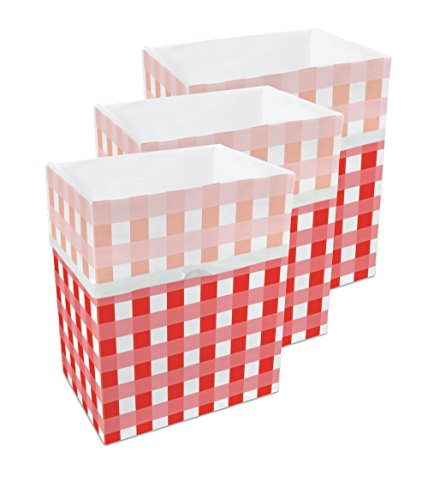 Clean Cubes 13 Gallon Disposable Trash Cans & Recycling Bins, 3 Pack (Picnic)