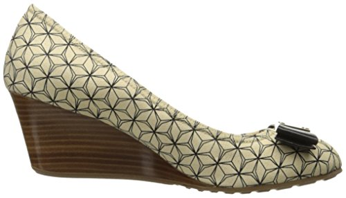 Cole Haan Mujeres Tali Grand Bow 65 Wedge Pump Marfil / Negro Prism Print