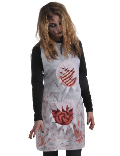 Rubie's Costume Zombie Shop Butcher's Apron, Red/White, One Size - coolthings.us
