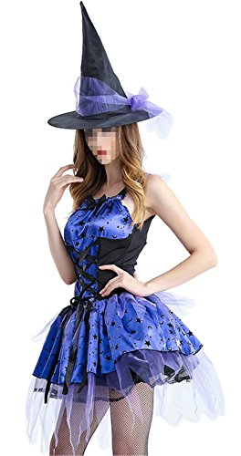 Costume Saint Cosplay Seiya (Betusline Women's Witch Adult Halloween Costume Outfit Cosplay Dress)