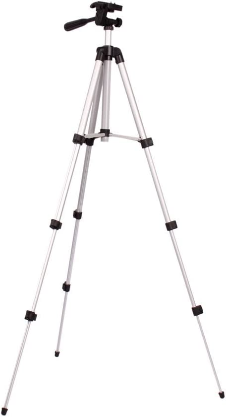 WT3110A Professional Flexible Aluminum Tripod with 3 Way Swivel Pan Head and Carry Bag for DSLR Camera Canon EOS Rebel T2i T3i T4i and for Nikon D7100 D90 D3100 13.78-40.16 Inch