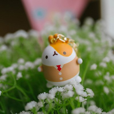Super Cute Mini Molang Bunny with Brown Suit