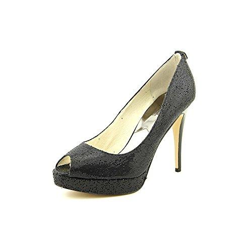 Michael Kors York Platform Women US 10 Black Peep Toe Platform Heel