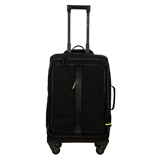 Price comparison product image Bric's Men's Moleskine by Bric's 22 inch Carry on Nylon Spinner, Black