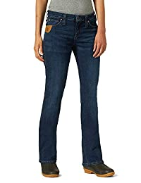 Wrangler Riggs Workwear Womens Five Pocket Boot Cut Jean Work Utility Pants