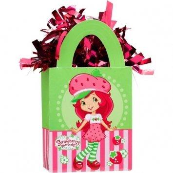 amscan Girls Strawberry Shortcake Mini Tote Party Balloon Weight, 5.7 oz, Pink/Green
