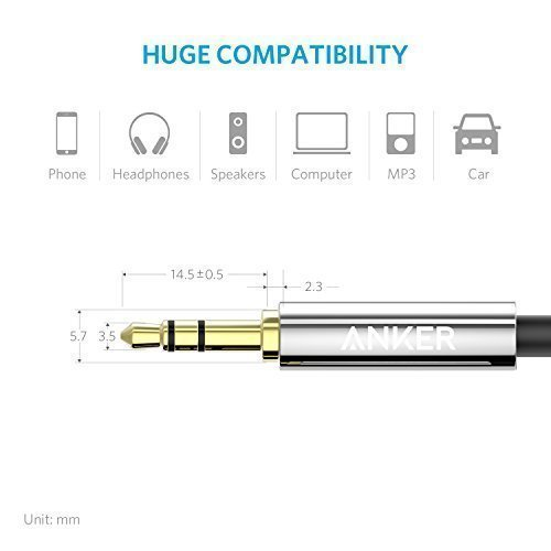 Anker-35mm-Premium-Auxiliary-Audio-Cable-4ft-12m-AUX-Cable-for-Beats-Headphones-iPods-iPhones-iPads-Home-Car-Stereos-and-More