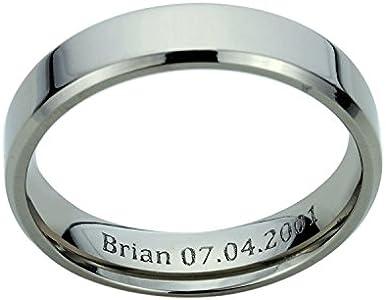 Free Engraving 14K Yellow Gold Wedding Band Domed Classy Plain Ring
