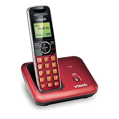 Vtech Cs 6419-16, Red Color Cordless Phone, Dect 6.0