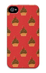 IMARTCASE iPhone 4S Case, Chocolate Cupcakes PC Hard Plastic Case for Apple iPhone 4S and iPhone 4