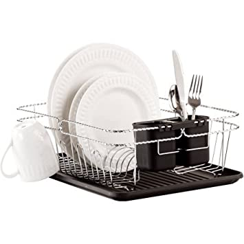 Amazon Com Kitchen Sense 248t Bk Chrome Twist Wire Large Dish