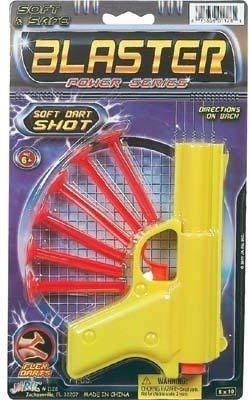 (Ja-Ru Blaster Power Series Plastic Dart Gun with Soft Dart Shots - Orange)