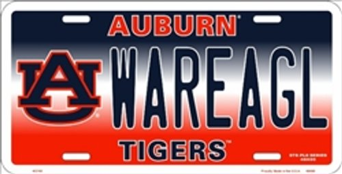Auburn Tigers Plate - NCAA University of Auburn WAREAGL Tigers Car License Plate Novelty Sign