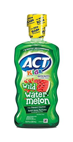 ACT Kids Anticavity Fluoride Rinse, Wild Watermelon, 16.9 Ounce (Pack of 1)