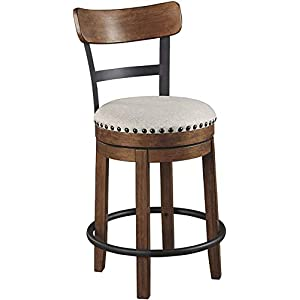 Signature Design by Ashley Valebeck Counter Height Single Bar Stool, Brown