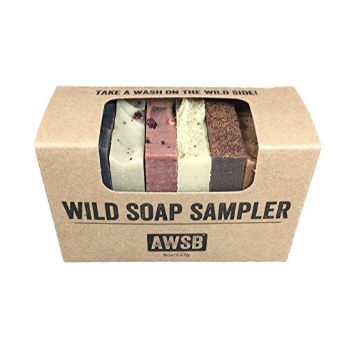 Wild Soap Sampler Gift Set with 8 Small, Natural & Organic Bar Soaps for Guests or Travel, Handmade by A Wild Soap - Scented Organics Soap Bar