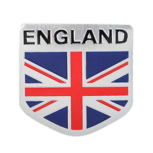 (Jonathan-Shop - Car 3D GB England UK Flag Union Jack Shield Emblem Badge Decals Decor Sticker)