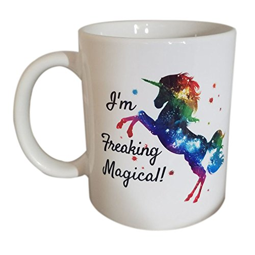 Funny Mug - I'm Freaking Magical Unicorn Mug 11oz Ceramic Coffee Mug Tea Cup (Time Tea Turtle)