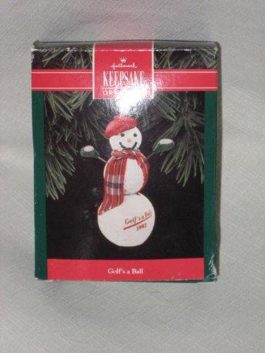 Golf Keepsake (1992 Hallmark Keepsake Ornament - Golf's A Ball Christmas Tree Ornament)
