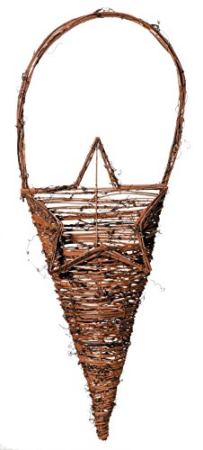 (Darice 8 by 16.5 inch, Twig Basket with Star Opening, 8 by 16.5