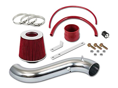 R&L Racing Red Short Ram Air Intake Kit + Filter 90-93 For Honda Accord 2.2 DX LX -
