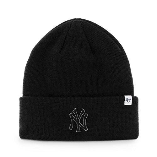 285e9457ecf  47 New York Yankees Black Tonal Beanie Hat - MLB NY Cuffed Winter Knit Cap.