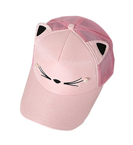 Cat Caps Fashion Caps Ladies Baseball Caps Sun Cap Women Golf Hats Pink by Gentle Meow