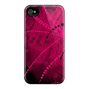 4/4s Scratch-proof Protection Case Cover For Iphone/ Hot Pink Dark Vector 1080p Phone Case