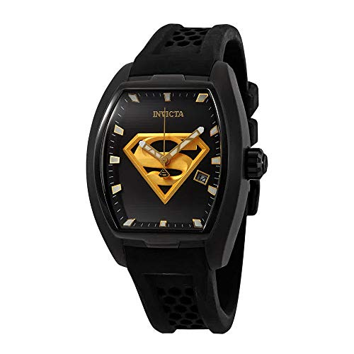Invicta Men's 'DC Comics' Automatic Stainless Steel and Silicone Fashion Watch, Color:Black (Model: 26945) (Tonneau Automatic Watch)