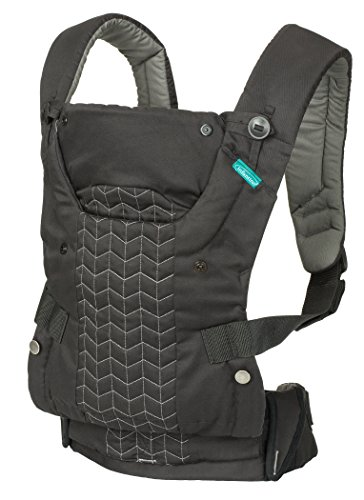 Infantino Plush (Infantino Upscale Carrier, Black, One Size)