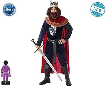 Atosa-61389 Atosa-61389-Disfraz Rey Medieval-Adulto Hombre ...