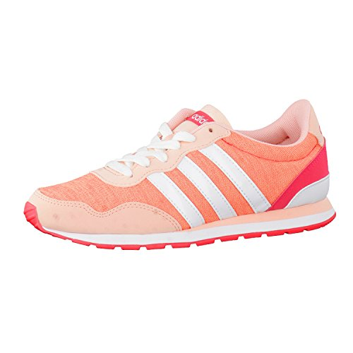 Adidas V Jog K, Scarpe da Ginnastica Unisex – Bambini, Rosa (Corneb/Ftwbla/Rojimp), 38 EU