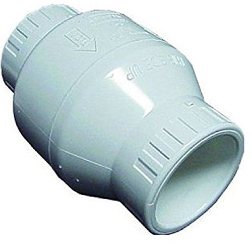 Spears S1520-20 PVC Utility Swing Check Valve, 2-Inch, White