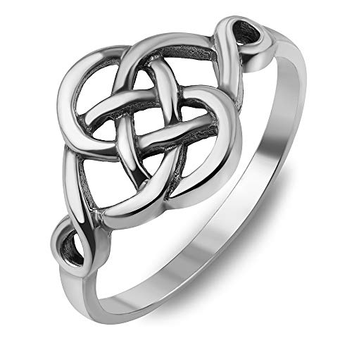 925 Sterling Silver Woven Celtic Love Knot Irish Cut Out Infinity Band Ring Men Women Size 6