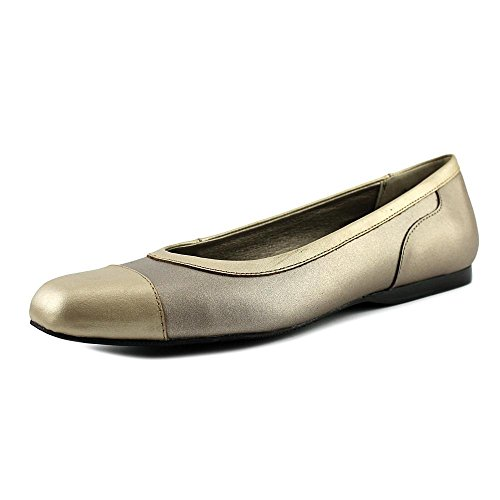 Ballet ARRAY ARRAY Womens Madison Closed Metallic Leather Flats Womens Toe w0ZfaqxARq