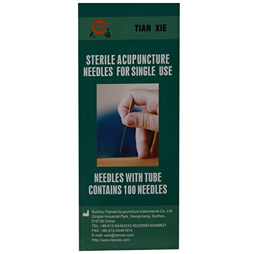 AHCS ACUPRESSURE HEALTH CARE SYSTEMS Sterile Acupuncture Needles for Single Use Transparent (0.25 X 40Mm) (Best Uses For Acupuncture)