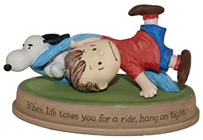 Peanuts Gallery Hang on Tight Linus and Snoopy Collectible Figurine