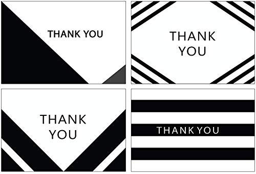 Simple Den Thank You Card Set   100 Count Bulk Assorted Cards with Envelopes   BONUS Thank You Note Templates   Perfect for Weddings, Bridal Showers, Baby Showers & Business Use