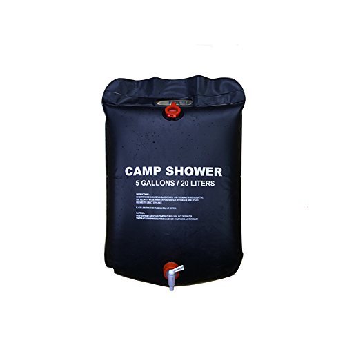 Solar Camping Shower Bag - 5 gallons/20L Solar Heating Premium Camping Shower Bag Hot Water with Temperature 50°C Removable Hose on/off Switchable Shower Head Hiking Climbing Summer Shower by All-nice
