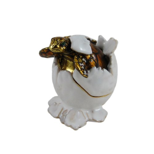 Sea Turtle Hatching Trinket Box Bejeweled Bejeweled Turtle
