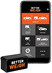 CURT 51701 BetterWeigh Mobile Towing Scale with TowSense Technology (OBD2) Apple, Android Smartphones, Tongue