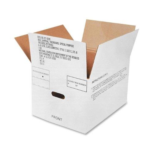 8115001178249 Fiberboard Storage Box, 12 X 14-3/4'' X 9-1/2'', White, 25/Bundle