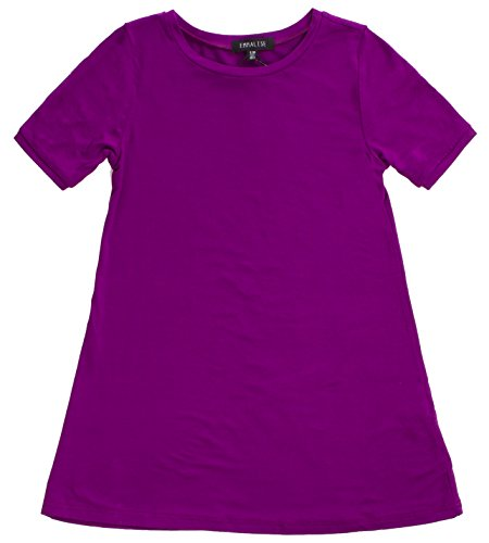 rl's Summer Spring Casual Fashion Jersey T-Shirt Dress - Purple 5/6 ()